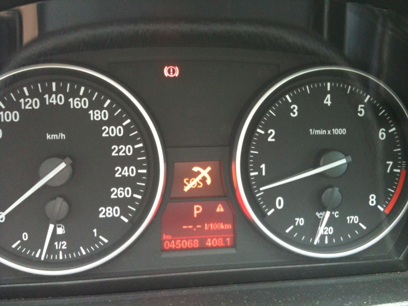 SOS Symbol With Line Through It - Bmw e90 warning signs